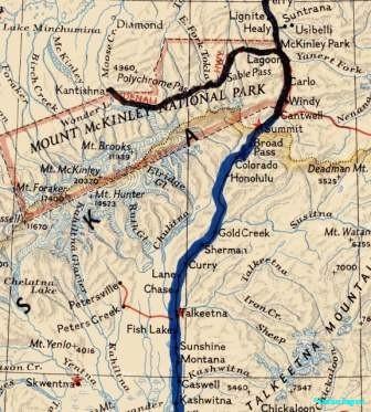 Denali area map