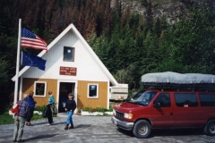 "Our van at Chitina P O Alaska ""Where the hell is Chitina ? We know but we ain't tellin"""