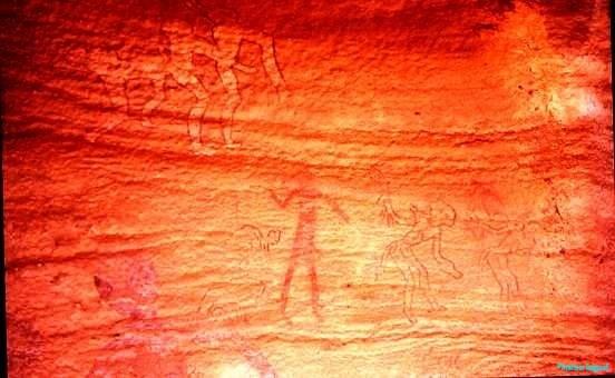 Dancing figures, Tassili plateau