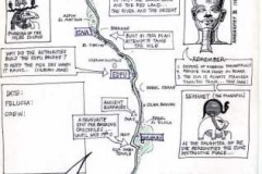 Hand drawn map of the Nile Luxor to Aswan ©Steve Edgar