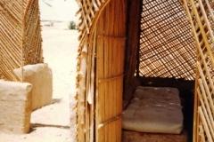 Cane fretwork bothy Western desert Egypt