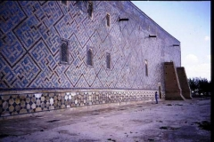 Geometrically tiled wall Samarkand