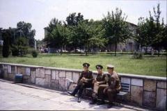 Soviet soldiers on a break