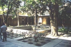 Courtyard view Bokhara Central Asia