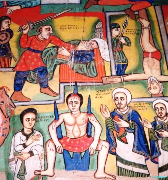 Frieze-depicting-martyrdom-Gondar-Ethiopia