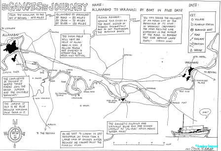 Hand-drawn-map-of-Ganges-sailing-route-©Steve-Edgar