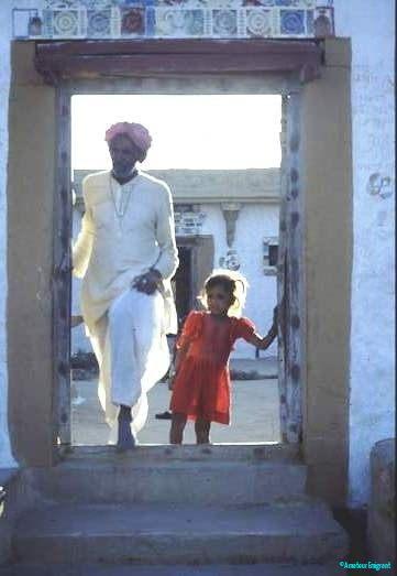 Family house doorway, Rajasthan