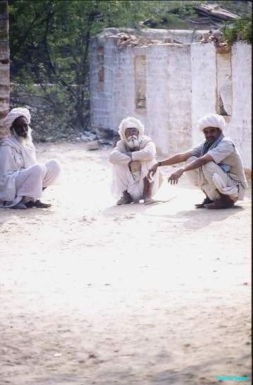 Rabari elders take five