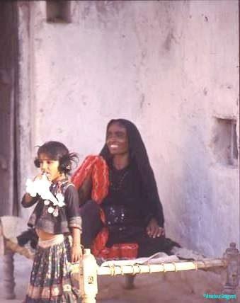 Rabari grandmother and child