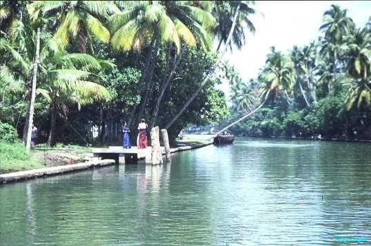 Kerala backwaters jetty