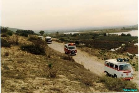 Convoy of campers