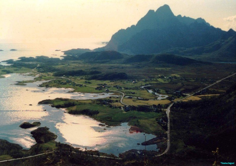 Lofoten land and seascape