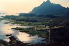 Lofoten land and seascape