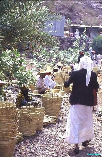 Basket market. Yemen