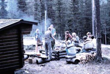 Campfire at Serri nature reserve, Jokkmokk, Sweden