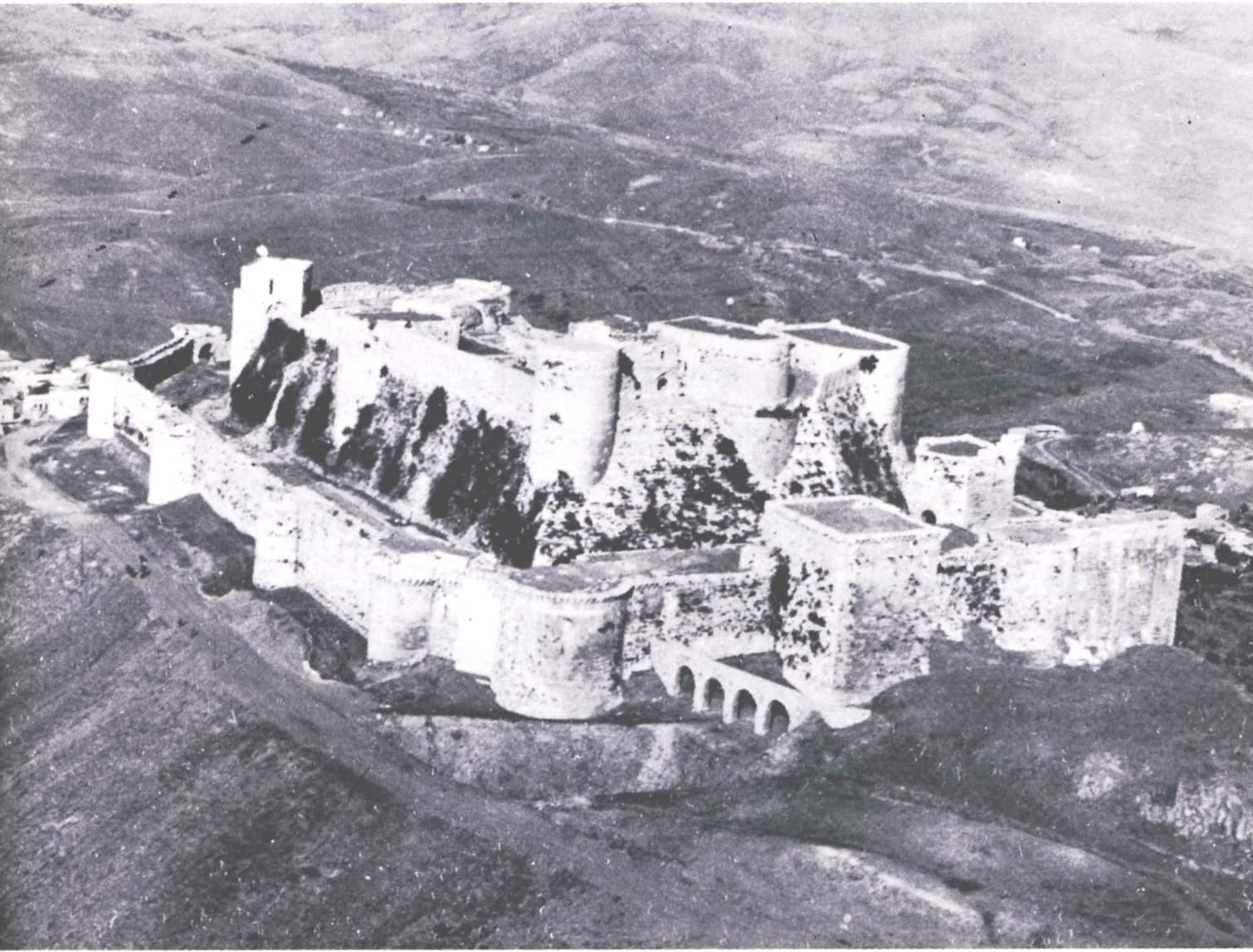 Aerial view of Krak des Chevaliers Taken from Guidebook ©Syrian Directorate of Antiquities 1982