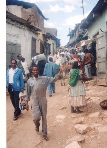 Busy street scene Harar, Ethiopia
