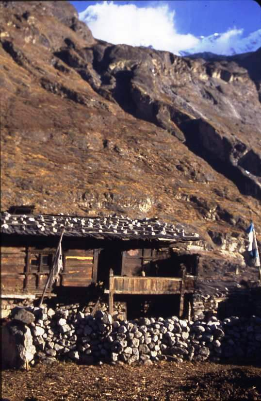 Lodge at Langtang village. Sleeping above the yaks on the ground floor