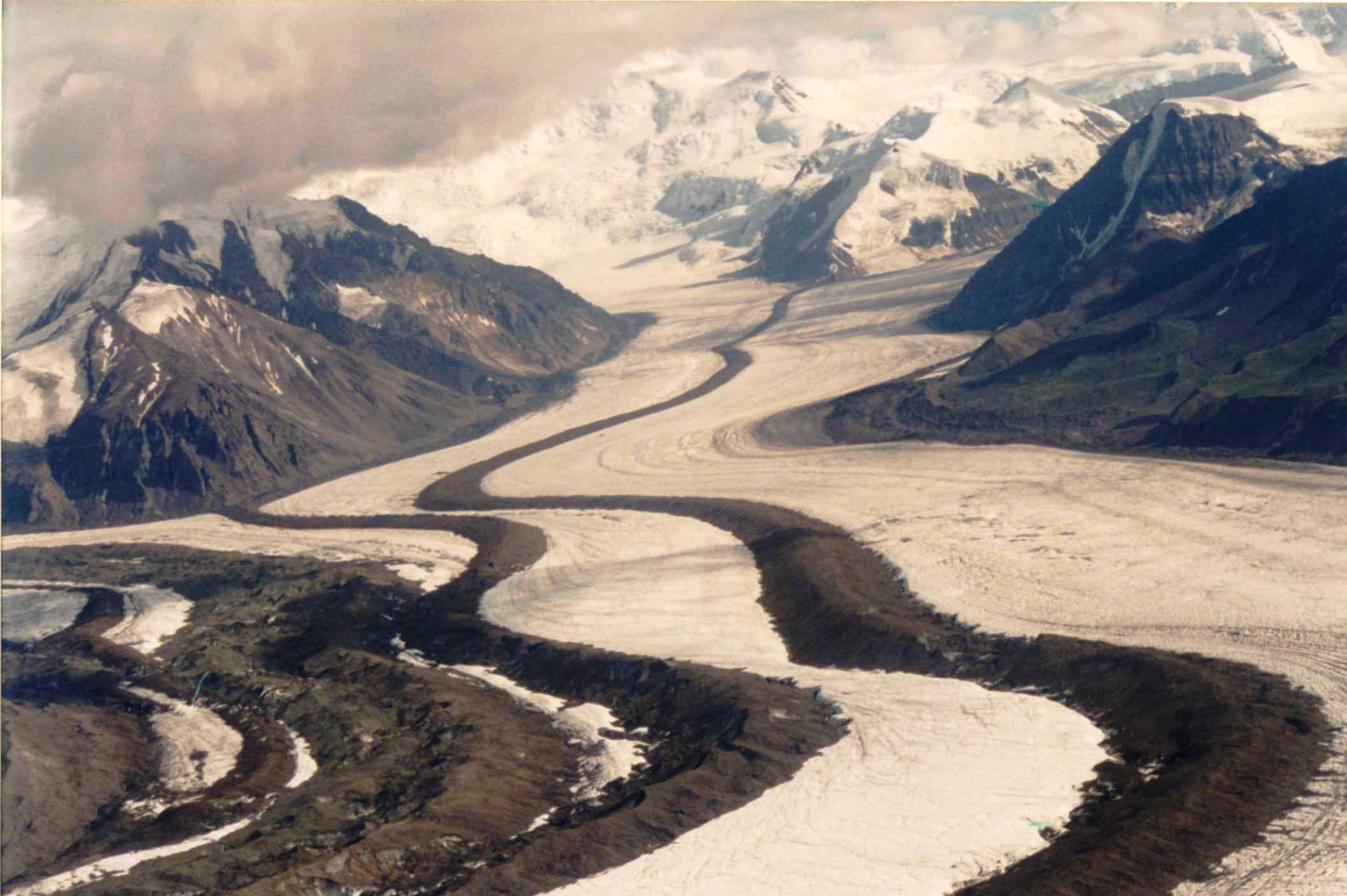 The scale of a small glacier...