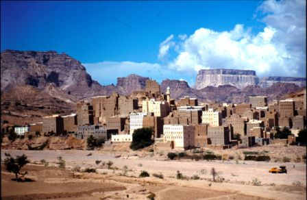 Mud brick tower houses in Shibam, Hadramhaut, Yemen