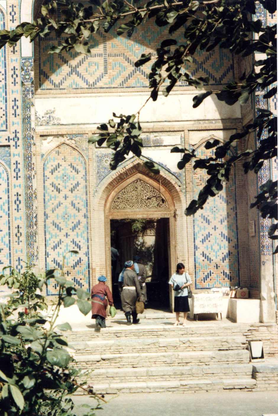 Locals entering mosque