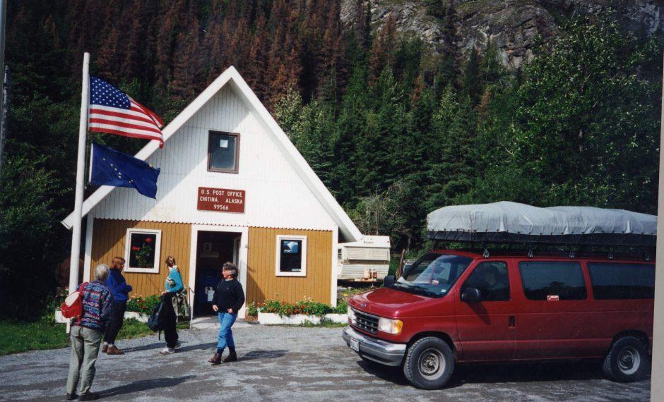 Our van at Chitina P O Alaska