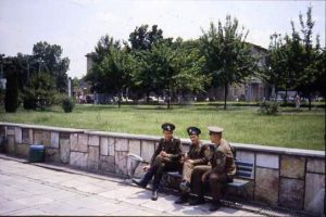 Soviet soldiers on a break