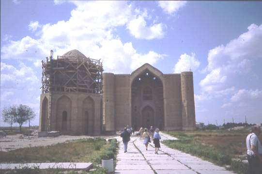 Restoration of Islamic monument Central Asia