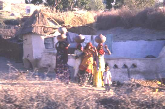 Fetching water, village, Rajasthan
