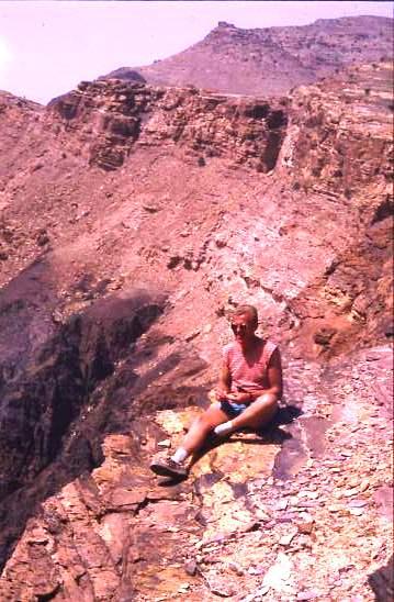 Selfie, above Petra, Jordan