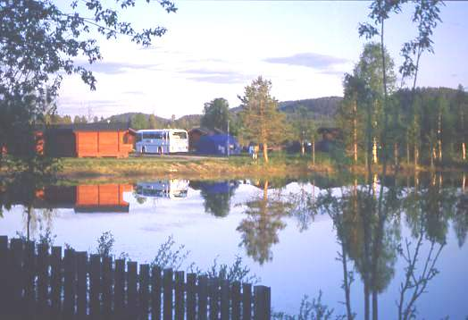 Scenic campsite, Sorsele, Sweden