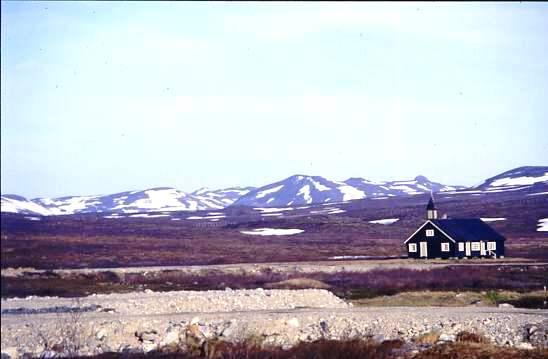 Isolated church Finnmarksvidda